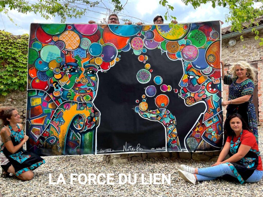 """Peinture et solidarité avec l'association """"Miroir"""""""